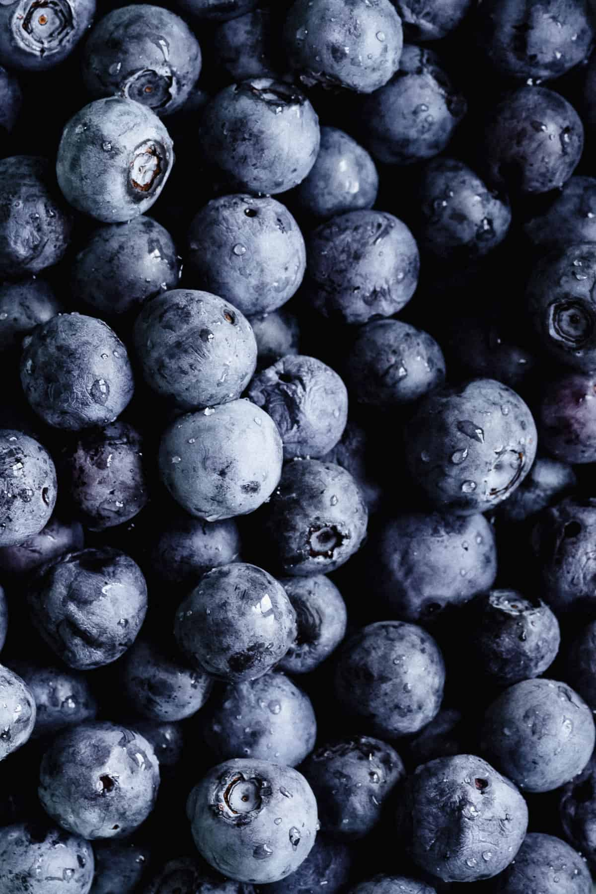 Close up photo of delicious fresh blueberries used in this recipe.