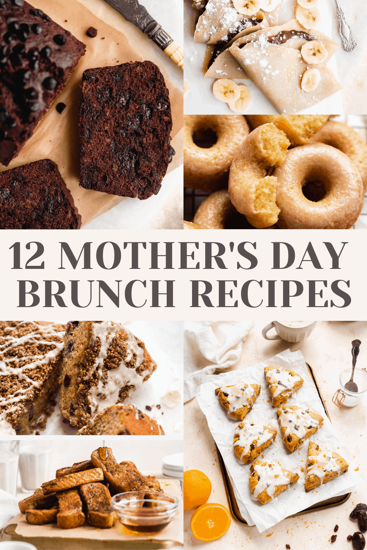 Collage of images for Mother's Day Brunch.